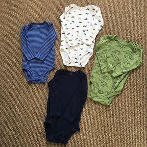 Carters baby boy dinosaur printed onesies